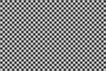 Black Gingham Pattern Background.Texture From Rhombus.Vector Illustration.EPS-10.