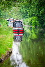 Boat On The Canal. Oxford, Eng...