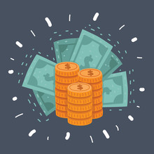 Dollar Stack Pack Icon. Stack Of Cash Or Money For Apps And Websites. Finance And Economy Sign. Money Banknotes. USA Currency Note Symbol. American Bucks Vector Pictogram. Success Business Symbol.
