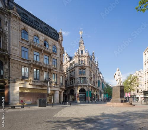 Recess Fitting Madrid street scene in Antwerpen, Belgium.