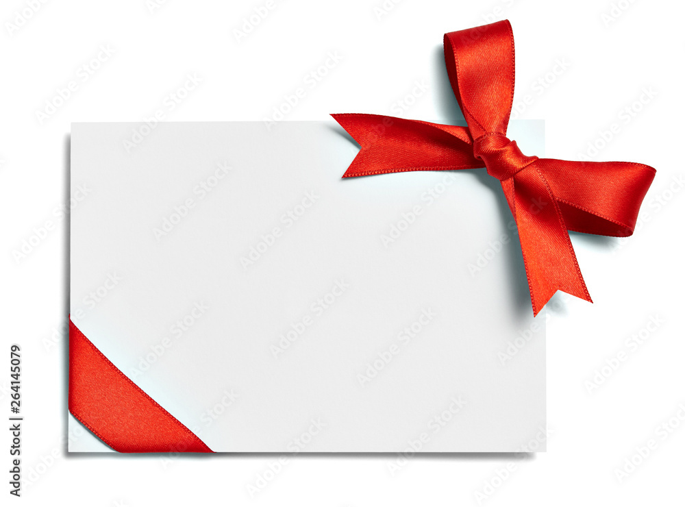 Fototapety, obrazy: ribbon bow card note chirstmas celebration greeting