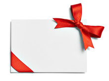 Ribbon Bow Card Note Chirstmas...