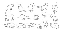 Cat Vector Kitten Icon Logo Cartoon Character Illustration Doodle White