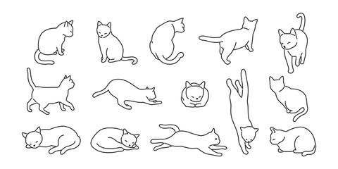mačka vektor mačka ikona logotip crtani lik ilustracija doodle bijela