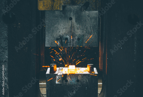 The process of forging metal Canvas Print