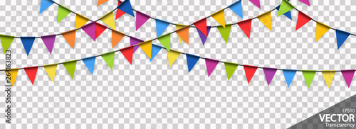 Cuadros en Lienzo seamless colored garlands party background
