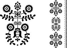 Vector Image Of Folk Embroider...