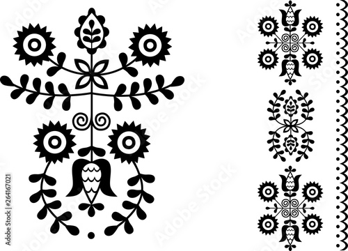 Fotografija  Vector image of folk embroidery from Povazska Bystrica area (Slovakia)