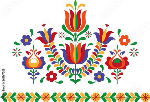 Folk ornament from Eastern Slovakia Wallpaper Mural