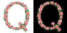 Watercolor Floral Alphabet Of ...