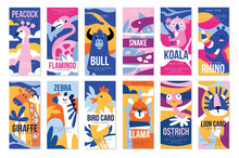 Birds And Animals Poster Set, ...