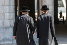 Two Jewish Man In Traditional Clothes