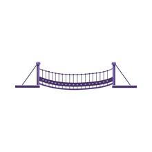 Suspension Bridge Vector Illus...