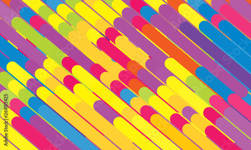Fotografía  Abstract background consisting of thick rounded rectangles and circles