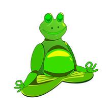 Zen Fat Happy Frog Doing Meditation