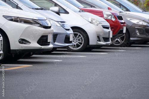 Obraz 駐車場 - fototapety do salonu