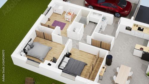 Plan 3d Maison De Lotissement 05 Buy This Stock Illustration And Explore Similar Illustrations At Adobe Stock Adobe Stock