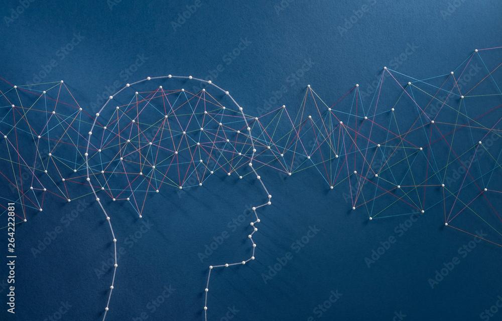 Fototapeta Brain waves concept