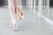 Ballerina Takes Off Ballet Poi...