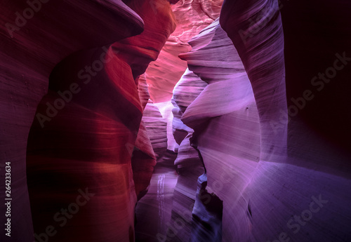 Photo sur Aluminium Antilope Colorful Antelope canyon