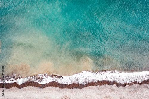 Türaufkleber Rosa dunkel Aerial photo of summer beach and sea
