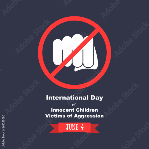 international day of innocent children victims of agression in june Canvas Print