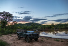 Safari Fahrzeug In Afrika / Kruger National Park, Südafrika