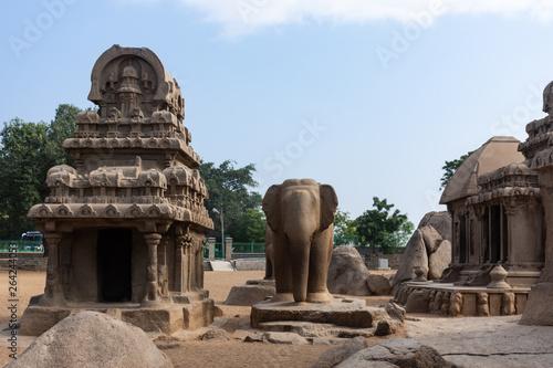 Temple des Pancha Ratha, Mahabalipuram, Inde Tablou Canvas