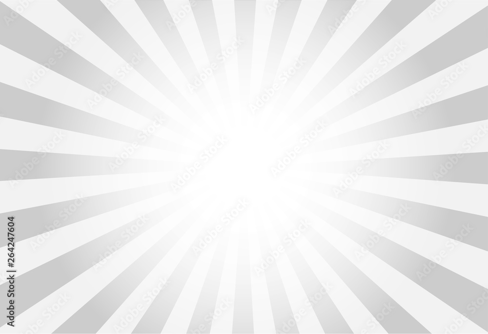 Fototapeta vector of grey sun burst ray background with blank copy space