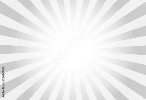 Fotografia, Obraz vector of grey sun burst ray background with blank copy space