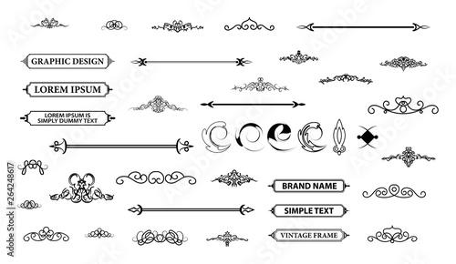 Fotografía  Vintage set decor elements. Decoration for logo