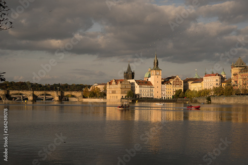Foto  Prague at sunset,