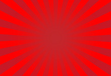 Vector Of Red Sun Burst Ray Background With Blank Copy Space