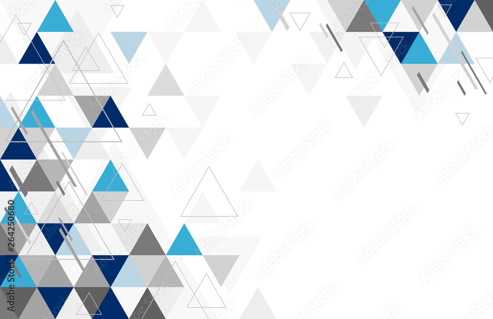 Fototapeta Abstract geometric background design of triangle vector illustration