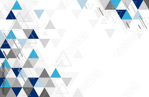 Stampa su Tela Abstract geometric background design of triangle vector illustration
