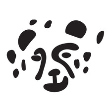 T-shirt Print Design For Kids With Little Cute Leopard Cat. Doodle Kitten Face. Cartoon Animal Vector Illustration. Scandinavian Print Or Poster Design, Baby Shower Greeting Card.