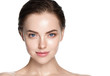 Beauty skin care woman natural makeup female model closeup