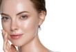 Leinwandbild Motiv Beauty skin care woman natural makeup female model closeup