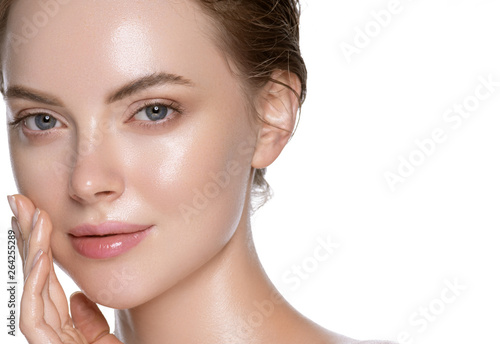 Fotografie, Obraz  Beauty skin care woman natural makeup female model closeup