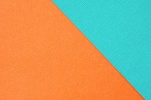 Abstract Geometric Background Turquoise And Orange Textural Paper.