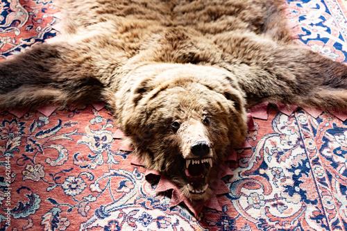 Stuffed bear on the floor. Photo of stuffed bear on the floor Wallpaper Mural
