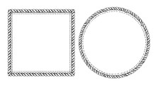 Simple Doodle Frames Set, Mari...