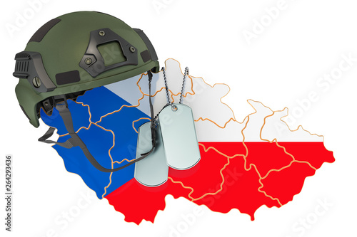 Photo  Czech Republic military force, army or war concept. 3D rendering