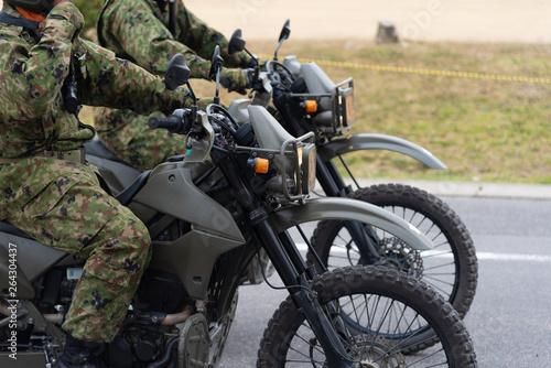 陸上自衛隊の偵察オートバイ