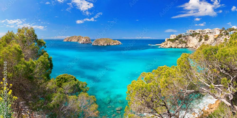 Fototapeta Santa Ponsa Majorca Mallorca Spain Baleares Mediterranean Sea Coastline