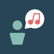 Line Icon Talk About Music