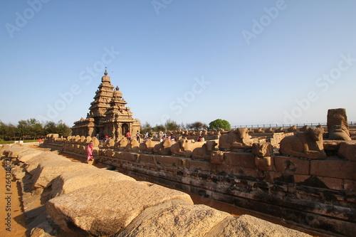 Fototapeta Shore Temple Complex in Mahabalipuram, Kanchipuram, Tamil Nadu, India