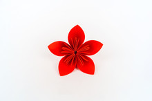 Origami Kusudama Red Flower St...