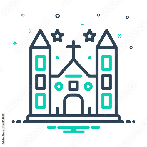 Mix line icon for diocese Wallpaper Mural