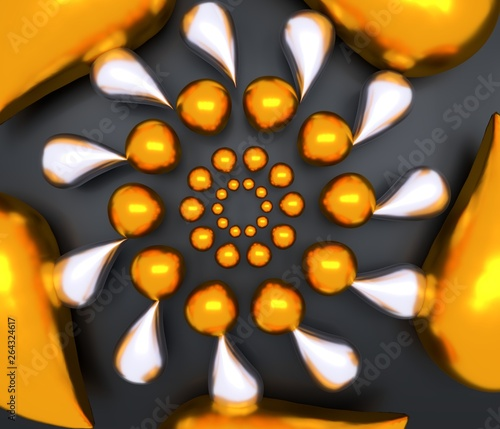 Abstract background with ge...